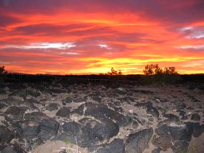 Sunset at Amboy Crater