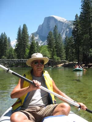 floating the Merced River in Yosemite