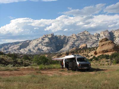 camping outside Dinosaur National Monument