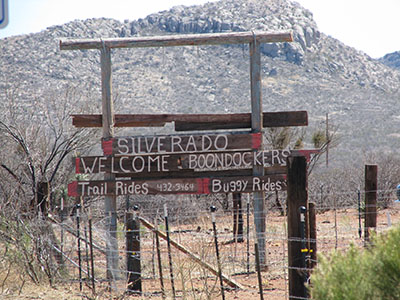 The Silverado Ranch Sign