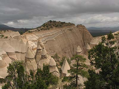 Hiking through tent rocks