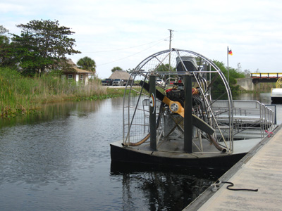 Airboat rides in the Everlglades