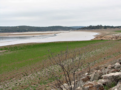 Lake Buchanan without water