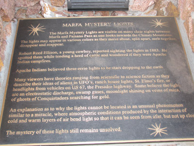 Marfa Lights Viewing Area