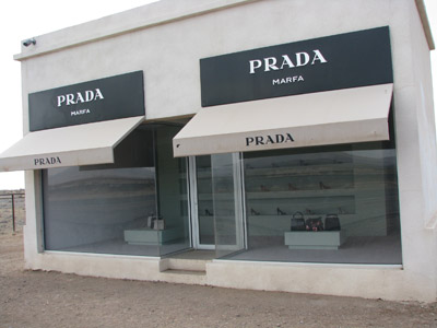 Prada Shoe Store in the Texas Desert
