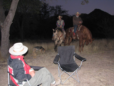 Horses visit at Cochise Stronghold