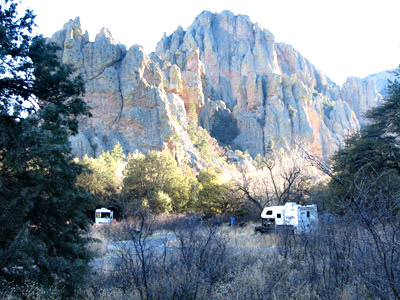 Sunny Flat Campground view