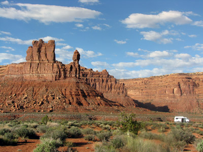 Camping at Valley of the Gods