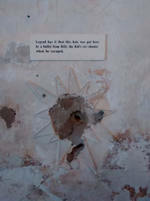 the actual bullet hole