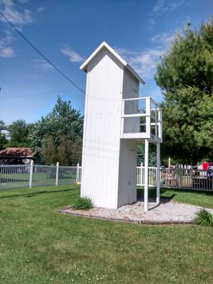 Gays 2-story outhouse