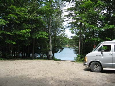 Ontario boondocking at a public boat launch
