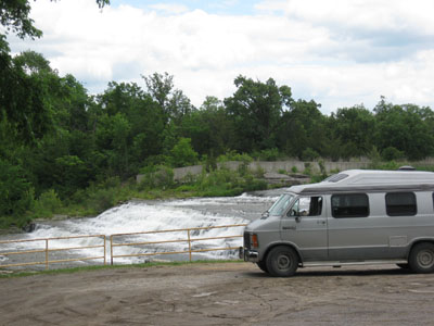 boondocking within view of falls