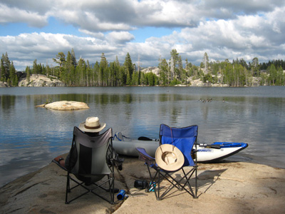 Free camping in the high Sierras