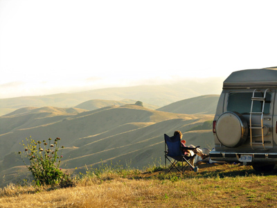 California roadside boondocking