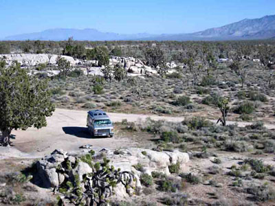 Free desert camping among the Joshua trees