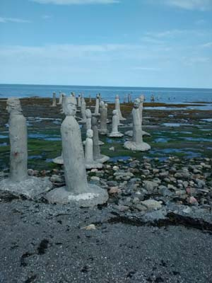 scuptures in the sea