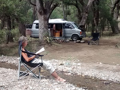 typical free National Forest camping