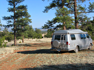 New Mexico dispersed forest camping