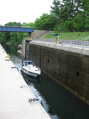 One of many locks along the Trent-Severn Waterway