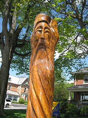 tree trunk art, Orangeville