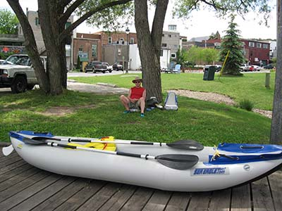 Randy with our kayak