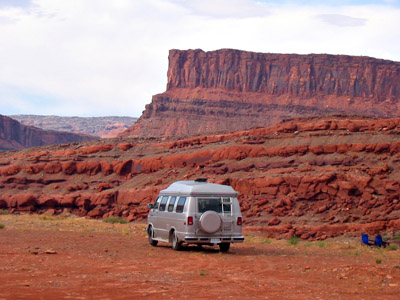 Our free campsite outside Moab