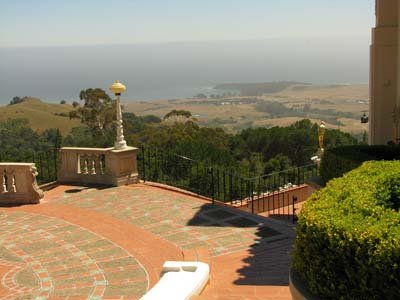 Hearst Castle Courtyard view