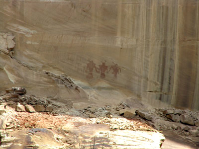 Fremont Pictograph along Upper Calf Creek Falls
