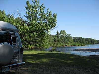 creek-side boondocking