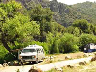 free California camping not far from LA