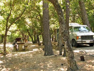 peaceful free California campground