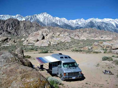 California Free scenic-view camping