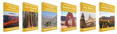 Complete Set Of Six Frugal Shunpiker's RV Boondocking Guides