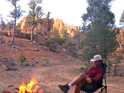 Our free campsite near Bryce Canyon National Park
