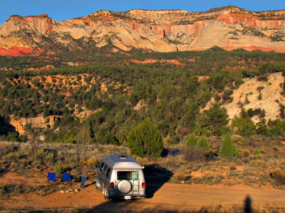 Our free campsite near Zion National Park