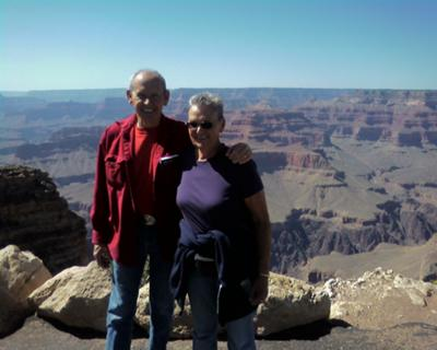 Bud and Gerri at the Grand Canyon