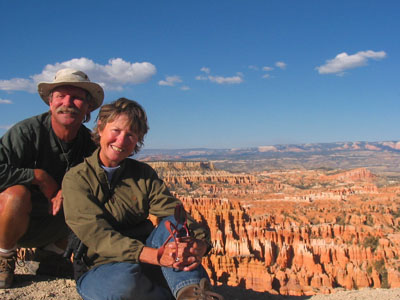 Randy and I at Bryce Canyon National Park, Utah